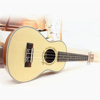 acoustic guitars freeshipping - Professional inch Acoustic Soprano Ukulele Guitar Music Instrument Wood Guitar Spruce Ukulele Hawaii Guitar