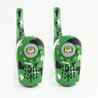 Wholesale 2PCS Walkie Talkie Kids Electronic Toys Portable Two Way Radio Set W Hot Sale Children Kids Christmas Gifts Toys