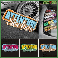 attention seekers - Extra Gift ATTENTION SEEKER stickers funny car vinyl sticker Doodle Motorcycle Bike Travel Doodle accessory cover decals
