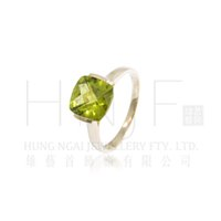 14k gemstone ring - Simple Design K Yellow Gold mm Cushion Checkerboard Natural Peridot Ring Wholesales Manufacturer Fashion Gemstone Jewelry