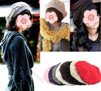 Wholesale Fashion Women s Lady Beret Braided Baggy Beanie Crochet Warm Winter Hat Ski Cap Wool Knitted