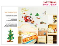 animal art activities - Wall stickers home decoration Activities of the new third generation Santa AY767 removable wall stickers wall stickers PVC transparent film