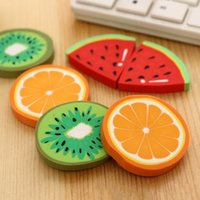 >3 years Fruit Fantastic Cute Fruit Shape Designer Students Pencil Eraser Rubber Kid Office Primary School Student Prizes Promotional Gift Stationery