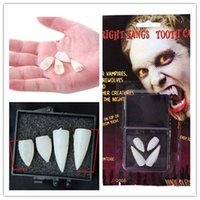 Wholesale Horrific Halloween Party Dentures Props Vampire Zombie Devil Fangs Teeth For Costume Party Supplies Drop Free Ship FG06015
