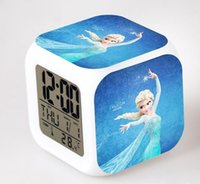 Wholesale Led Digital Electronic Alarm Clock Xmas Gift Desk Table Clock for kids Backlight Time With Calendar Thermometer