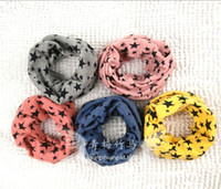 Wholesale new Classic children cotton scarf kids boy girl Ring Scarfs Shawl Unisex Winter knitting stars Collar Neck Warmer