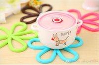 Wholesale Thickening pvc Coasters anti scalding potholder Plum shaped Vinyl Coaster
