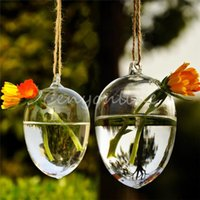 Wholesale Hot Selling Clear Hanging Glass for Egg Plants Flower Vase Hydroponic Container Party Wedding Gift Home Decoration Transparent