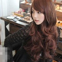 Wholesale U Pick Colors Flax yellow Black and Dark Blue New Style Fashion Women Girl Sexy Long hair Wig H024