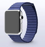 Wholesale Real leather Loop watchband for apple watch Magnet Strap Bracelet Red Black Blue for Apple Watch Sport Edition mm mm
