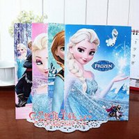 Wholesale kids gift Hot pages mm mm Frozen Anna Elsa Notebook Kids Can Set Password Notepad Children Learning Stationery