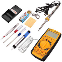 auxiliary heating - 10in1 Welding Tool Kit W Internal Heating Electric Soldering Iron Digital Multimeter Auxiliary Soldering Tools PIT_21A