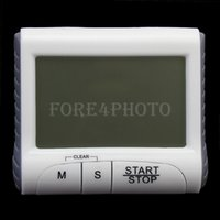 Wholesale White Digital Timer Kitchen Count Down Counter Magnet Beeping Alarm Buttons