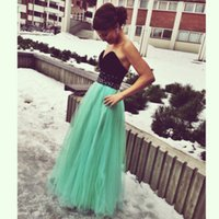 formal gowns - Fascinating Evening Dresses Black Sweetheart A Line Floor length Tulle Formal Gowns Party Dress