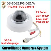 Wholesale POE PTZ WIFI IP Camera DS DE2202 DE3 W X Zoom MP P Multi language Firmware
