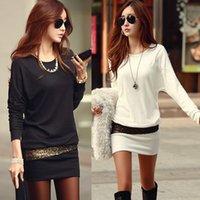 Wholesale Women dress blusas Winter Women fashion Dress Bronzing Evening vestidos Clothes Party Long Sleeve Casual women