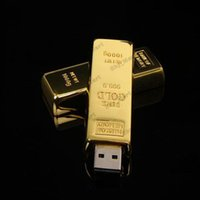 bar drive - Gold Bar GB Metal USB Flash Memory Drives Pen Drives USB Flash Drive Card Memory Stick Drives Pendrive Iron box