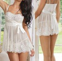 sexy underwear - Hot Sales Women Lady Sexy Skirt Set Lace Dress G string Lingerie Underwear Babydoll Sleepwear Nightwear NX238