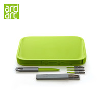 Wholesale quot Artiart Multi Use Portable Chopping Blocks Fruit Serving With Knife amp Forks Picnic Outdoor Camping Travel Cutting