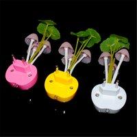 Wholesale 2015 LED Colorful Light Sensor Mushroom Night Light Lamp Gift Home Lighting US EU Plug