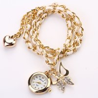 analog digital women s watch - 50X New Fashion watches Luxury Design Elegant Women s watchwomen luxury brand quartz wristwatch women dress watch butterfly