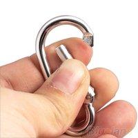 Cheap 20Pcs Silver Aluminum Spring Carabiner Snap Hook Hanger Keychain Hiking tools 028X
