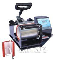 Wholesale 2015 Free ship Portable Digital Mug Press Machine cups printer Cup Heat Press machine Thermal transfer baking cup machine in