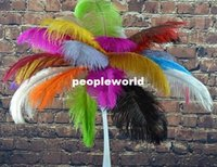 Wholesale inch Ostrich Feather Plume Turquoise Hot Pink Yellow Purple White For wedding centerpiece