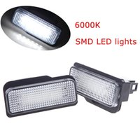 Cheap 2pcs SMD LED Vehicle License Plate Light Car Light Source Fog Lamp Bulbs Error Free for BENZ W203 Wagon W211 5D W219 6000K