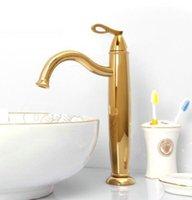 Cheap Bathroom FPC gilt golden color basin sink mixer tap faucet