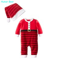 baby humor - Humor Bear NEW Christmas Baby boy clothing Rompers newborn gentleman style casual clothing long sleeved clothes
