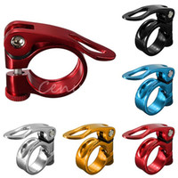 Wholesale Fashion Colors mm Alloy Aluminum Road Cycling Mountain Bike Bicycle Quick Release QR Seatpost Seat Post Bolt Binder Clamp order lt no