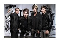 band sticker printing - All Time Low Band Luxary Home Decoration Fashion Custom Poster Print Size x60 cm Wall Sticker