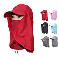 Wholesale Delicate Camping Hiking Fishing Outdoor Big Wide Brim Face Neck Cover Flap Sun Hat Cap Hot Selling