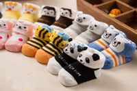 Wholesale 600pairs D Baby Socks Cartoon Infant Months Non Slip Assorted Color New and Hot Selling