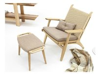 Wholesale Modern simple furniture pure solid wood leisure chair fashion stool arm chairs back rest chair European log color