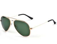 Wholesale 2016 Men Brand Designer Sunglass Classic Yurt Eyewear Pilot Style Driving Antireflection Glass Lens UV400 Sunglasses Authentic Sunglasses
