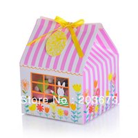Wholesale quot Hop to it quot PVC window cupcake boxes include of insert and tag