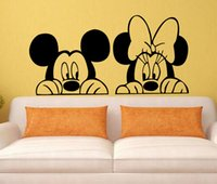 Wholesale Decal Removable Home Decor Vinyl Decal Cartoon Mickey Minnie Mouse Baby Room Anime Sticker Wall Paper Wall Sticker
