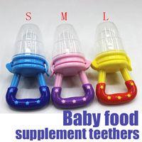 fresh food - Baby Teether Fruit Pacifier Food Supplement Silicone Teether Fresh Food Teething Toy Feeder Stick Pacifier Export goods OF