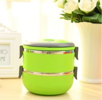 Cheap Homio Double Layer Stainless Steel Vacuum Lunch Box Kids 1.4L Keep Warm Food Container For School Office Bento Box 2014 new