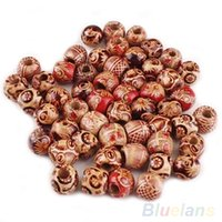 Wholesale 100pcs mm Mixed Wood Round Beads Jewelry Making Loose Spacer Charms Findings QW9