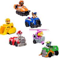 Wholesale 6Pcs Paw patrol baby Snow Slide Dog Puppy Zuma Tockey Marshall Minifigures paw Patrol for Children Christmas Gift toys
