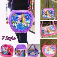Wholesale Cheap Messenger Backpacks - Fashion Frozen Bag Cute Elsa Anna Satchel Bags Kids Backpack Handbags Children Backpacks Girls Single Shoulder Bags Cheap Bags Messenger Bag