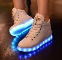 adults rubber boots - 7Colors LED luminous shoes women USB charging sneakers adults colorful glowing flat shoes Snow Boots man diamond shoe DHL hot