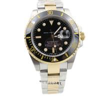 Wholesale men s Luxury watch Automatic Movement Mechanical Gold Stainless Steel Ceramic Bezel Original Clasp men wristwatch
