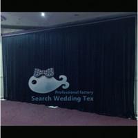 backdrops for sale - 10ft ft Black Color Wedding Backdrop For Sale Drape Curtains