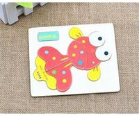 Wholesale MO Practical Cartoon Baby Wooden Puzzles Animals Design Kid Children Puzzles Educational Toy Puzzle OM