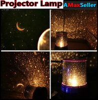 Wholesale Magic Changing Color Romantic Cosmos Star Master LED Projector Lamp Night Light for Christmas Xmas Gifts Room Decor Wedding Party