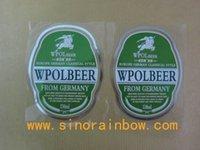 beer bottles labels - Silver Stamping Roll Clear PVC Beer bottle labels
